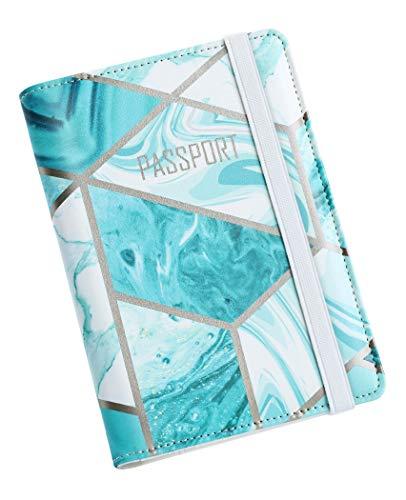 Nacuwa Paspoort Houder Cover, [Bijgewerkte versie] Lederen RFID-blokkeren Travel Wallet Case, Credit Card, ID-kaart en reisdocument Draagtas voor Mannen & Vrouwen