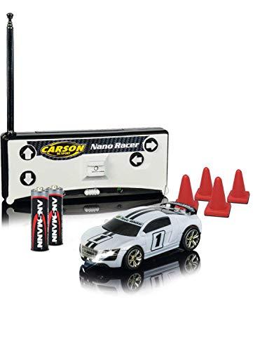 Carson 500404111 1:60 Nano Racer Toxic White MHz 100% RTR
