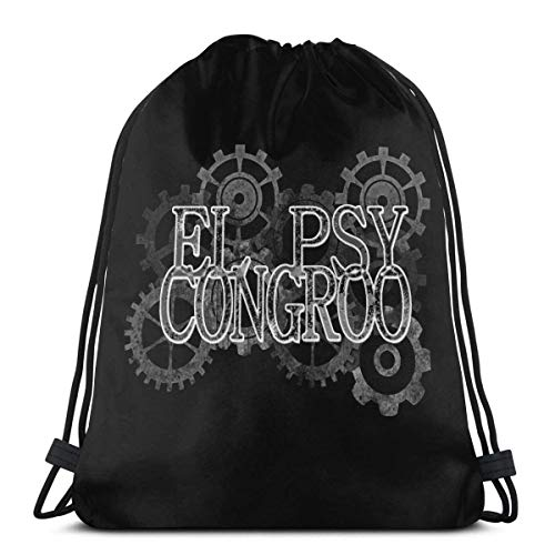 QiangQ Sac à cordon Drawstring Bag Sport Gym Sack Party Favor Bags Wrapping Gift Bag Drawstring Backpack Storage Goodie Bags Cinch Bags - Steins Gate El Psy Congroo