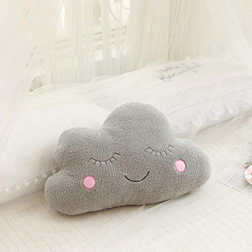 CZMCQM Ins Cloud Moon Star Raindrop Almohada de felpa suave cojín Kawaii nube de peluche juguetes para niños bebé niños almohada niña regalo-Gray_Cloud