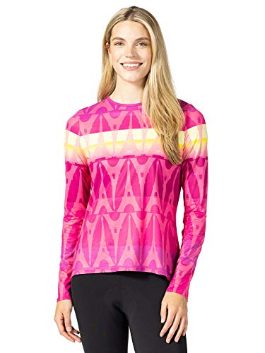 Terry Soleil Flow Women Top UPF 50+ Long Sleeve Relaxed Shirt-Paris Sunrise - L