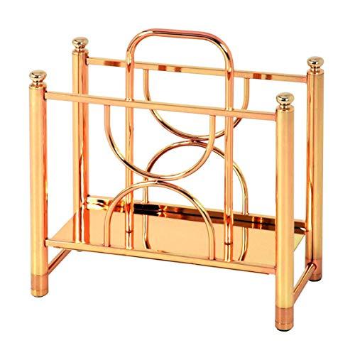 Haku-Möbel 49102 Zeitungsständer 38 x 18 x 40 cm, vergoldet