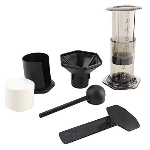 Cafetera, papel de filtro para cafetera, molinillo de mano perfecto, prensa de café con papel de filtro, estilo espresso, fácil de lavar para bar, cafetería