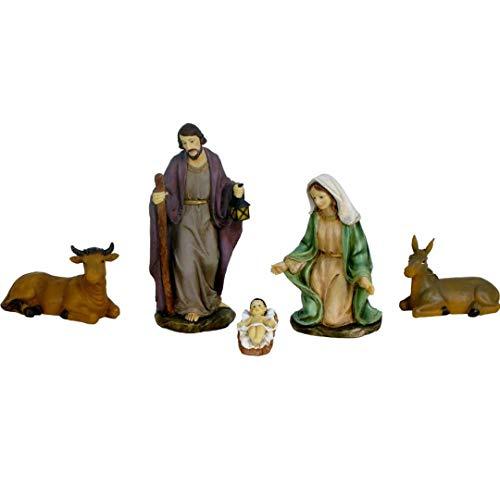Oliver Art - Set de 5 Figuras Nacimiento para Belén 12 cm...