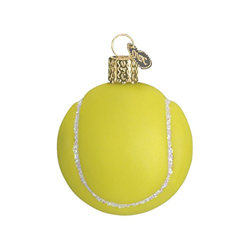 Old World Christmas 2020 Christmas Ornament Tennis Ball Glass Blown Ornament for Christmas Tree