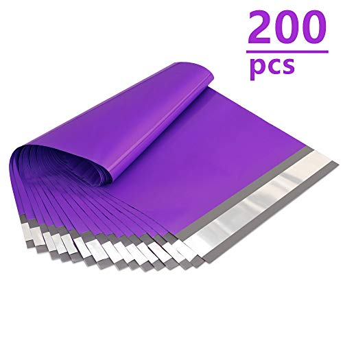 UCGOU 200Pcs - 6 x 9 Inch Poly Mailers Purple Premium Shipping Envelopes Mailers Bags Self Sealed Business Shipping Mailer Bags with Self Adhesive Strip Waterproof and Tear-Proof Postal Bags