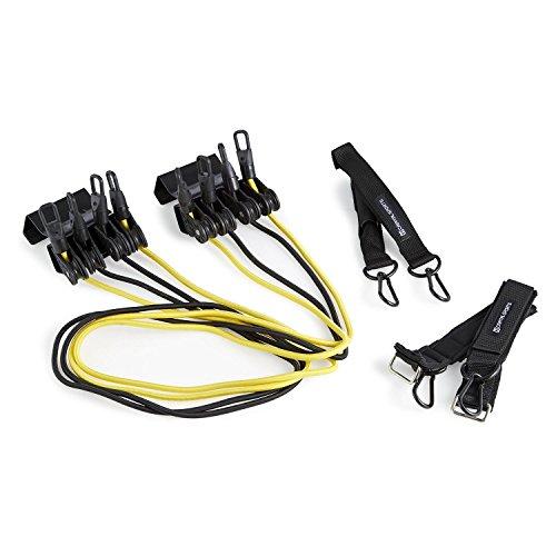 Capital Sports Fitadit Widerstandstrainings-Set Door-Gym (4 Widerstandsbänder in Zwei Härtegraden, einfache Befestigung am Türblatt) schwarz-gelb