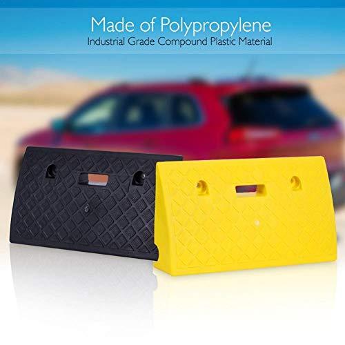 Tragbares Rampenset für Fahrzeuge,Awhao leichte Kunststoff-Auffahrrampe für schwere Beanspruchung, Ladedock, Bürgersteig, Auto, LKW, Roller, Fahrrad