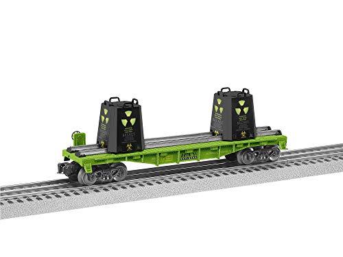 Lionel Area 51, Electric O Gauge Model Train Cars, Alien Radioactive Flatcar