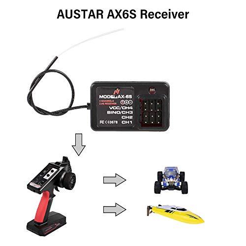 Goolsky AUSTAR AX6S Empfänger 4CH für RC Auto Boat AUSTAR AX6S Sender
