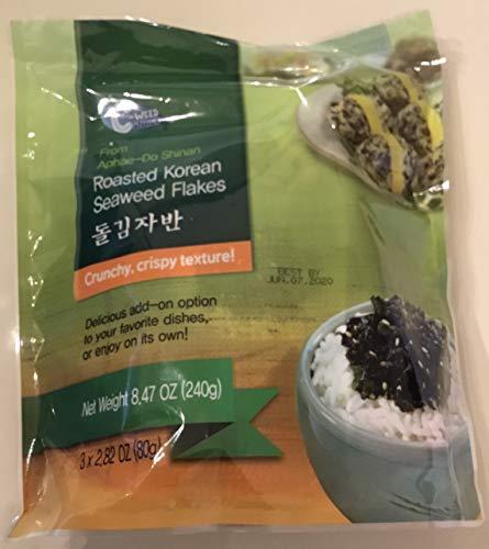 Roasted Korean Seaweed Flakes 3x2.82 oz. (80g) From Alphae-Do Shinan