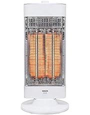 山善 遠赤外線 カーボンヒーター 速暖 (900W/450W 出力2段階切替) (左右自動首振り) ホワイト DC-U09(W)