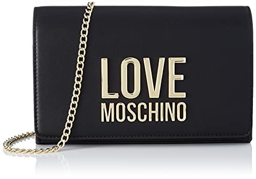 Love Moschino, Borsa a Spalla da Donna, Pre Collezione Autunno Inverno 2021, Nero, U