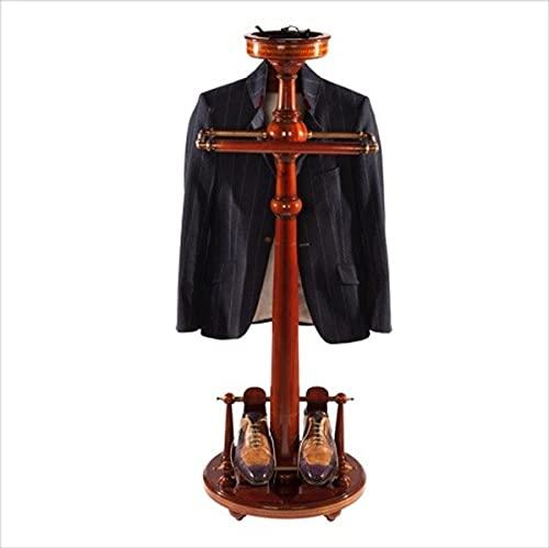 Casa Padrino Designer Luxus Garderoben Ständer New York Banker Stil - Mahagoni - Dressboy - Kleiderständer Anzugständer - Barock Empire Art Deco Jugendstil Biedermeier