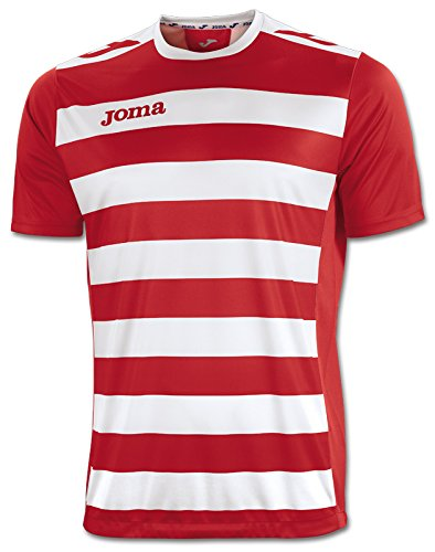 Joma Camiseta Europa II Rojo-Blanco M/C, Hombre, 10-12