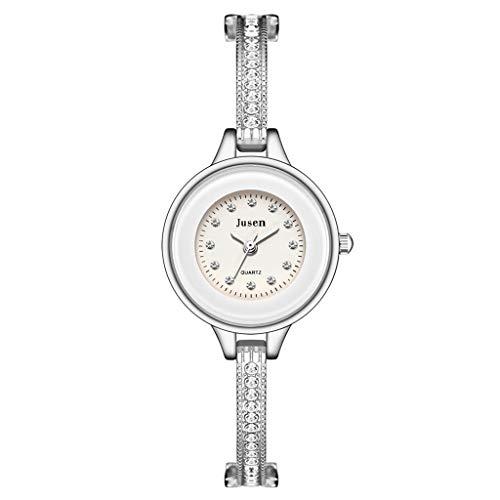 Relojes Para Mujer Moda simple pulsera para relojes de mujer reloj de pulsera de pulsera estrella diamante con incrustaciones de aleación de la aleación de las señoras reloj de cuarzo versátil Relojes