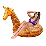 GoFloats Stretch the Giraffe Party Tube Inflatable Raft, Float in Style (for Adults and Kids)