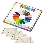 CreativaMente- Tarjetas precortadas y con guías de Plegado para Hacer Origami en 3D, Color Blanco Perla (ral 1013) (853)