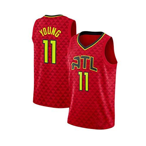 Hombres NBA Deportes Chaleco Atlanta Hawks Trey Joven # 11 Los Aficionados Jersey Transpirable Atletismo Verano Te Floja S-XXL C-M