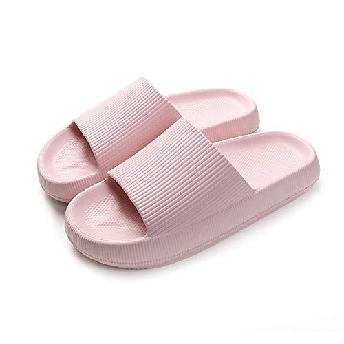 ZZLHHD Ciabatte per Massaggio ai Piedi,Soft Bottom Comfortable Couple is Red, Easy to Slip Slip Massage Slippers-Pink_37-38,Sandali per Massaggio con Digitopressione