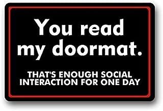 social interaction doormat