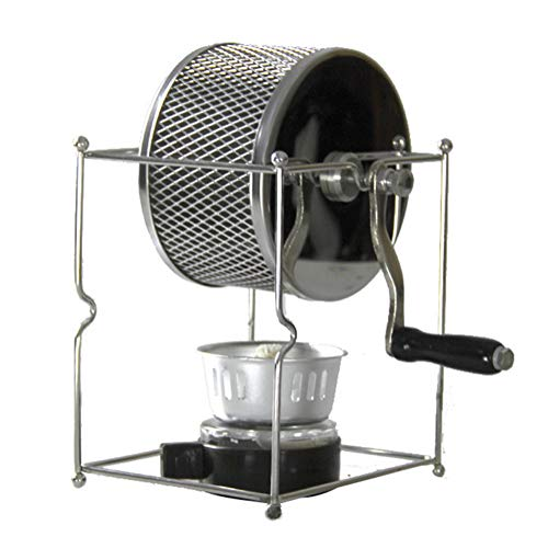 GWQDJ Manuale Macchina di Tostatura dei Chicchi di caffè, Acciaio Inossidabile Rullo Tostatori di caffè