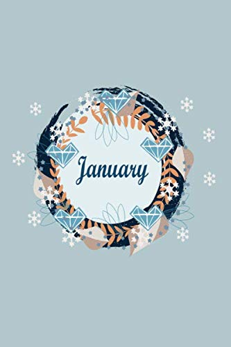 january monthly planner: monthly notebook memories/ journal / diary gift,110 110 blank lines pages, 6x9 inches , matte finish cover