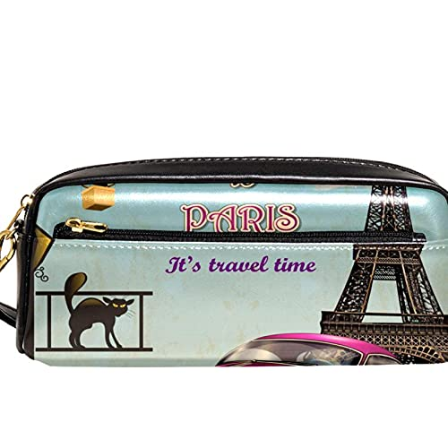Paris Tour - Estuche organizador para lápices con forma de torre Eiffel y globo de aire caliente, gran capacidad, para escuela, adolescentes, niños, niñas, hombres y mujeres