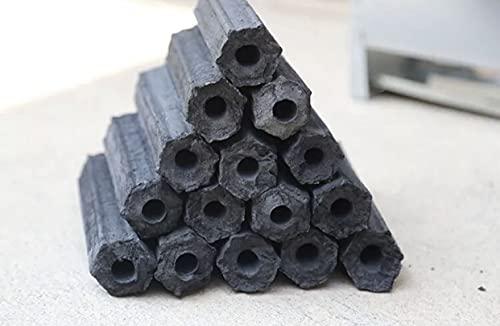 Kings 10 kg de carbón vegetal, briquetas para barbacoa, quema cinco horas, sin humo ni olor