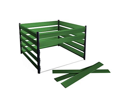 Komposter aus Aluminium 150x150cm mit optimalen Verottungsprozess für den Garten - einfaches Stecksystem & besonders stabile Konstruktion - 15 Jahre Garantie - direkt vom Hersteller - Made in Austria