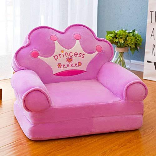 HUANXA Kind Relaxsessel, Faltbare Sessel Cartoon Kindersofa Junge Mädchen Mini-Sofa für Kinderzimmer Geburtstagsgeschenk-B
