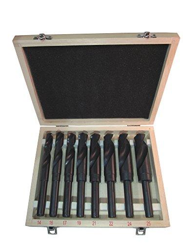 Spiralbohrer Set Satz HSS Bohrer Schaftbohrer Metallbohrer 14-25 mm, 8-teilig
