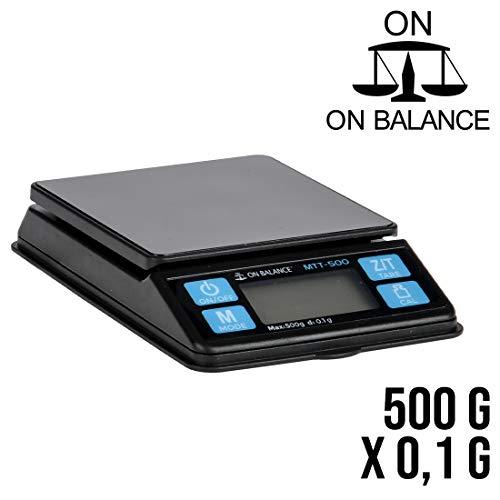 Envy MTT-500 - Báscula de laboratorio, color negro y plateado