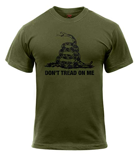 Rothco Don't Tread On Me T-Shirt, Olive Drab, X-Large