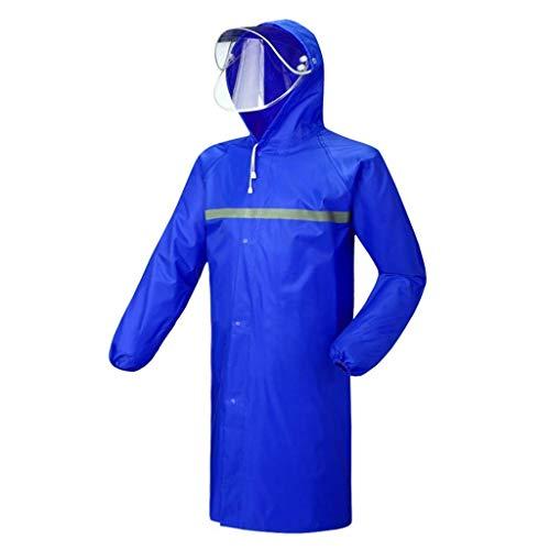 XZ15 Verdikke regenjassen voor mannen en vrouwen, één poncho, lange afstand, lange afstand, grote volwassenen, waterdicht