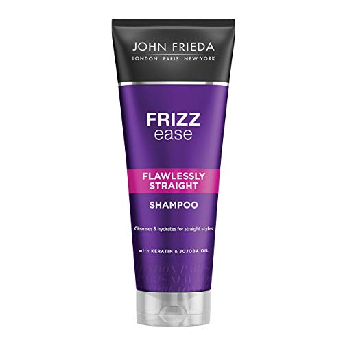 John Frieda Frizz Ease Flawlessly Straight Shampoo with Keratin for Frizzy Hair, 250ml