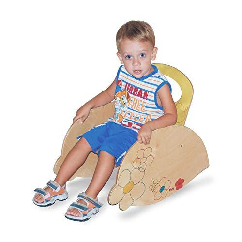 Dida - Kinderschaukelstuhl Mit Rückenlehne Und Armlehnen. Dekoration :Blumen. EIN Sitzmöbel Für Das Kinderzimmer Und Den Kindergarten