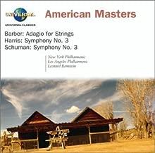 American Masters: Barber - Adagio for Strings / Harris - Symphony No. 3 / Schuman - Symphony No. 3