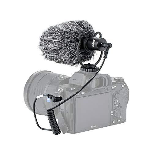 Micrófono universal para cámara de vídeo con soporte de choque para iPhone, teléfonos inteligentes Android, Canon, Nikon, Sony DSLR Camcorders Youtube Vlogging Facebook Livestream