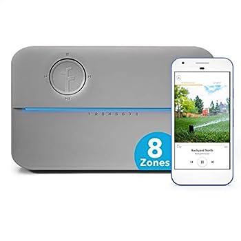 Rachio 8ZULWC-L R3e Generation  Smart 8 Zone Sprinkler Controller Compatible with Alexa Gen Gray