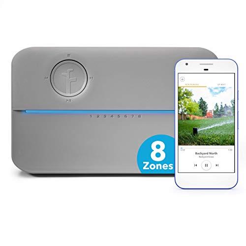 Rachio 8ZULWC-L R3e Generation: Smart, 8 Zone Sprinkler Controller, Compatible with Alexa, Gen, Gray