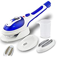 DXMCC Electric Iron,Multifunctional Handheld Garment Steamer Electric Steam Iron Ceramic Steam Brush for Clothes Vertical Hanging & Flat Steamer