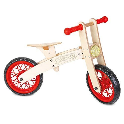 bici senza pedali legno 1 anno 2 anni 3 anni in legno Bicicletta Equilibrio senza Pedali in Legno 33,5 x 77,5 x 53 cm