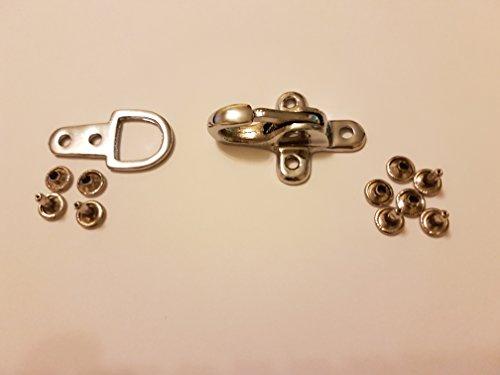 Kuttenverschluss Hakenverschluss Karabiner Verschluss Ersatzverschluss in Silber für Leder Westen 1 Stück