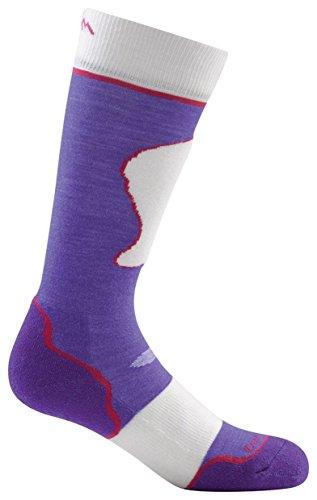Darn Tough Merino Wool Over-The-Calf Padded Ultralight Sock - Junior's Majesty/Snow Medium