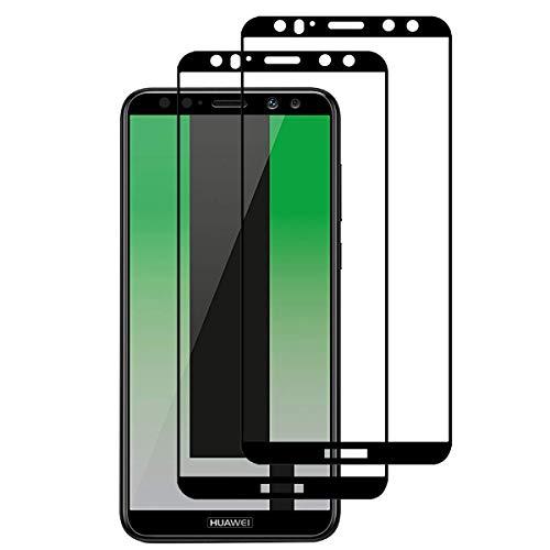 TANFEN für Huawei Mate 10 Lite Panzerglas, [2 Stück] [Full Screen] [9H Härte] [Ultra-klar] [Anti-Kratzen] Displayschutzfolie für Huawei Mate 10 Lite