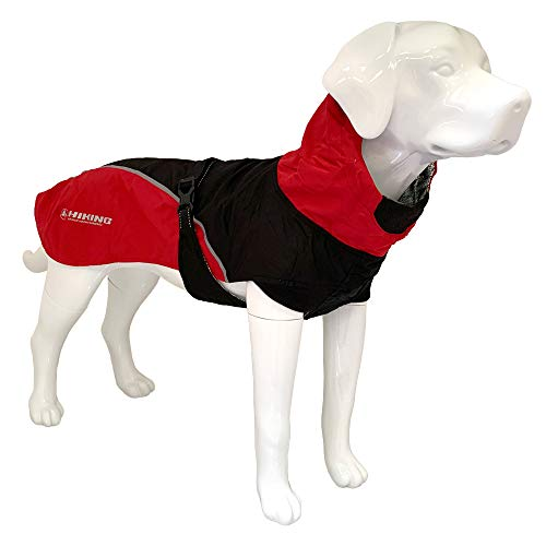 Croci Hiking Hundemantel, wasserdicht, für Hunde, feuchtigkeitsregulierendes Futter, Nanga Red, Größe 40 cm – 195 g