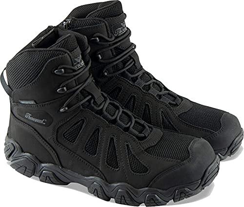 Thorogood Men's 834-6295 Crosstrex Series - 6' BBP Waterproof, Side Zip Hiker Boot, Black/Grey - 8.5 M US