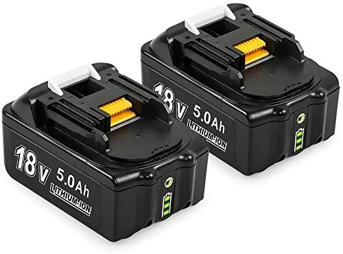 2 Pack 18V 5.0Ah BL1850B Battery Replacement for Makita 18V Battery BL1830 BL1850 BL1840 BL1850B-2 BL1845 BL1815 BL1820 BL1860B LXT-400 18-Volt Cordless Power Tools Batteries