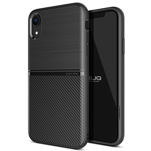 "OBLIQ iPhone XR Case, [Flex Pro] Slim Dual Design TPU Case with Anti-Shock Technology for Apple iPhone XR 6.1"" (2018) (Black)"